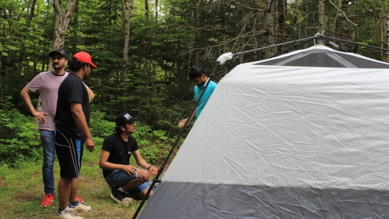 Learn to Camp for newcomers at Fundy National Park, New Brunswick